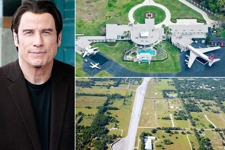 Super luxurious celebrity houses we hope they have a for Maison john travolta