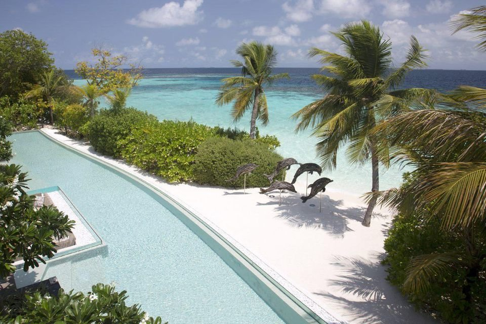 Enjoy swimming in Maldives's largest natural pool as you gaze at the breathtaking ocean right in front of you.
