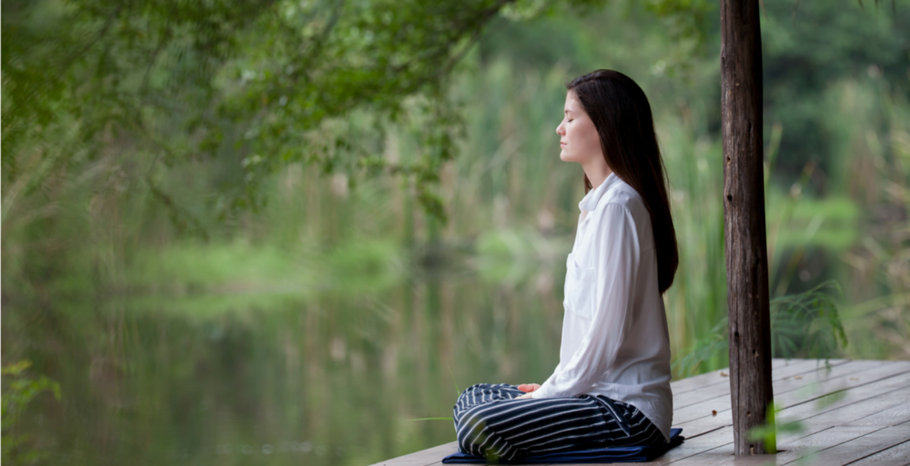 You can practice meditation on a cushion, on the floor, or even under the tree outside your garden.