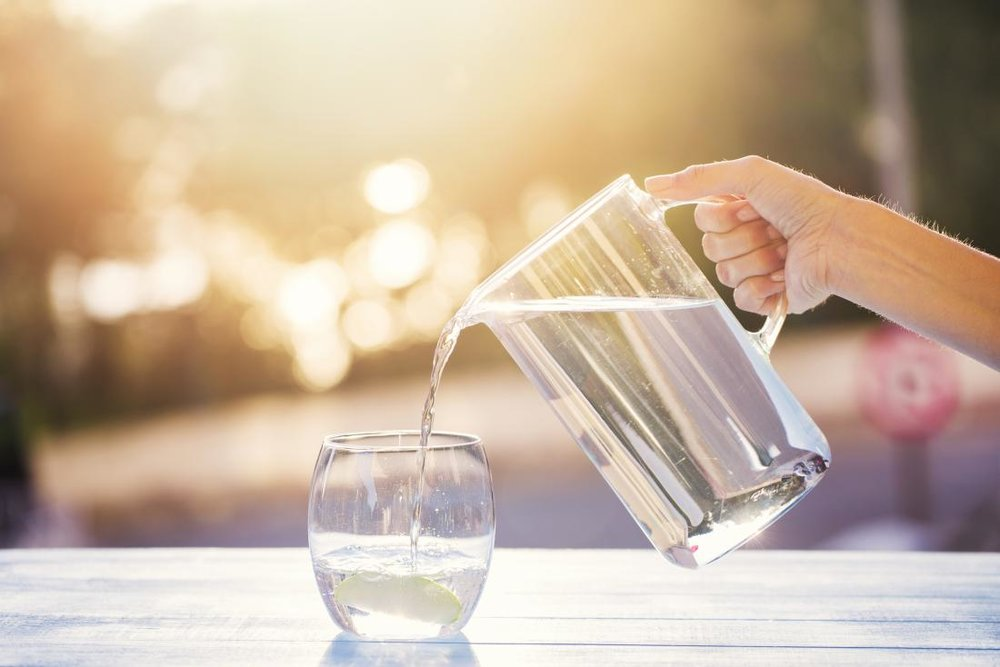 Drinking water helps keep your tummy happy and healthy.